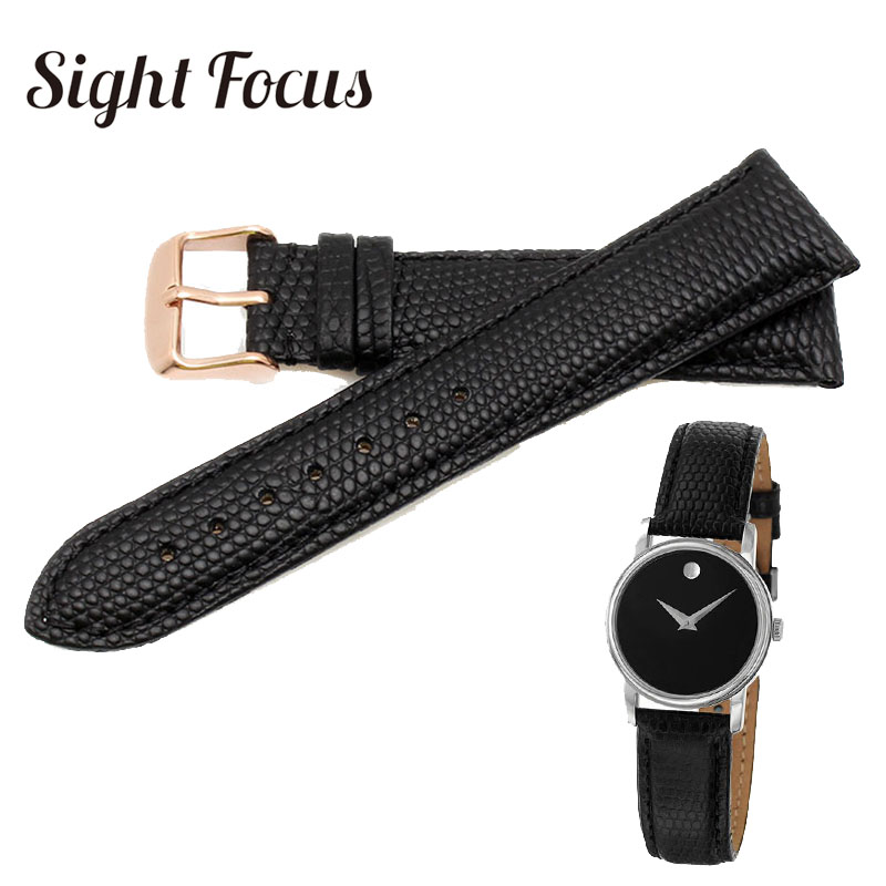 15mm 21mm Clafskin Leather with Lizard Grain Watch Bands for Movado Museum Series Men and Women Wrist Bracelet Watch Strap Black велосипед scott scale 970 2015