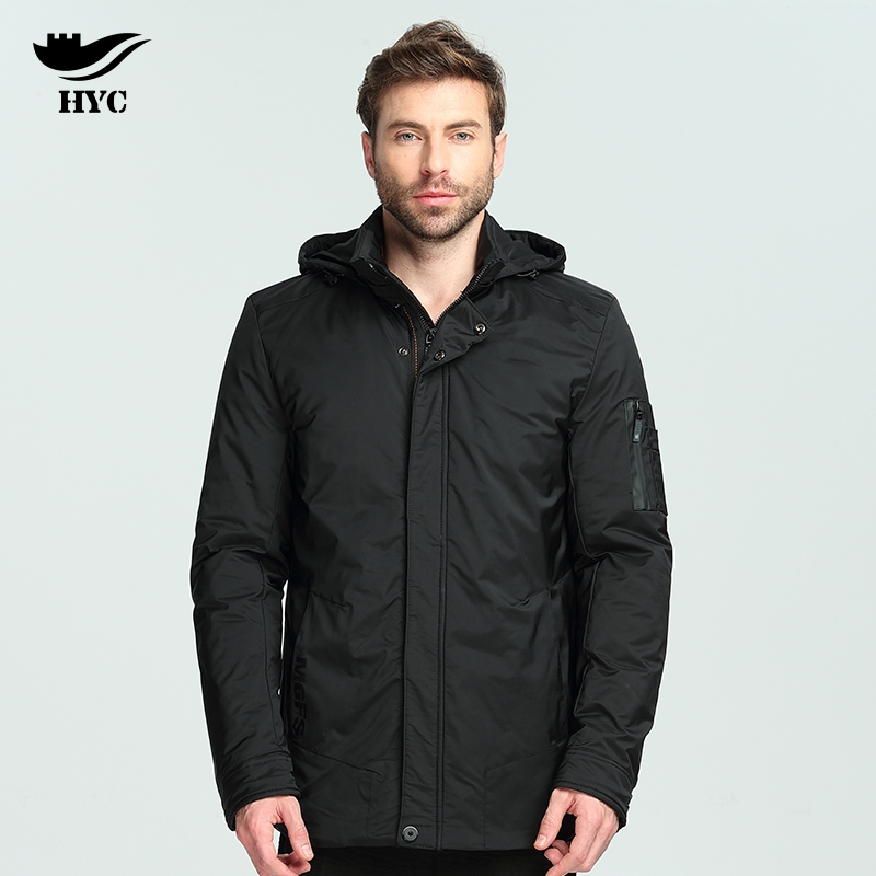 HAI YU CHENG Jacket Mens Autumn Winter Male Jacket Coat Waterproof Windbreaker Coat Men Overcoats Brand Men`s Parka Jacket hai yu cheng winter jacket men wadded parka male wind breaker long trench coat plus size men coat outerwear hood winter anorak