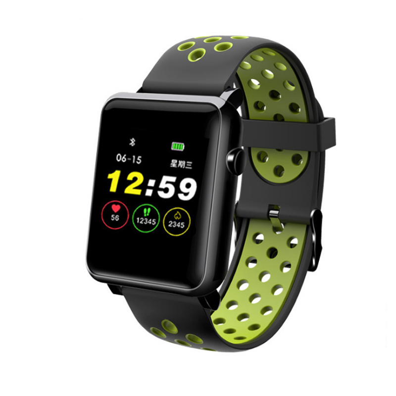 Us 217 29 Offsmart Sports Bracelet Customizable Wallpaper Color Screen Fitness Heart Rate Monitoring Message Time Smart Belt In Smart Watches From