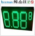 """leeman 10inch 12"""" inch 8.889 4 digits White,Red,Green,Yellow colors outdoor led gas price digital display"""