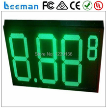 Leeman 10 дюймовый 12 «дюймовый 8.889 4 цифры Белый, Красный, Зеленый, Желтый цвета наружных светодиодных газа цена цифровой дисплей