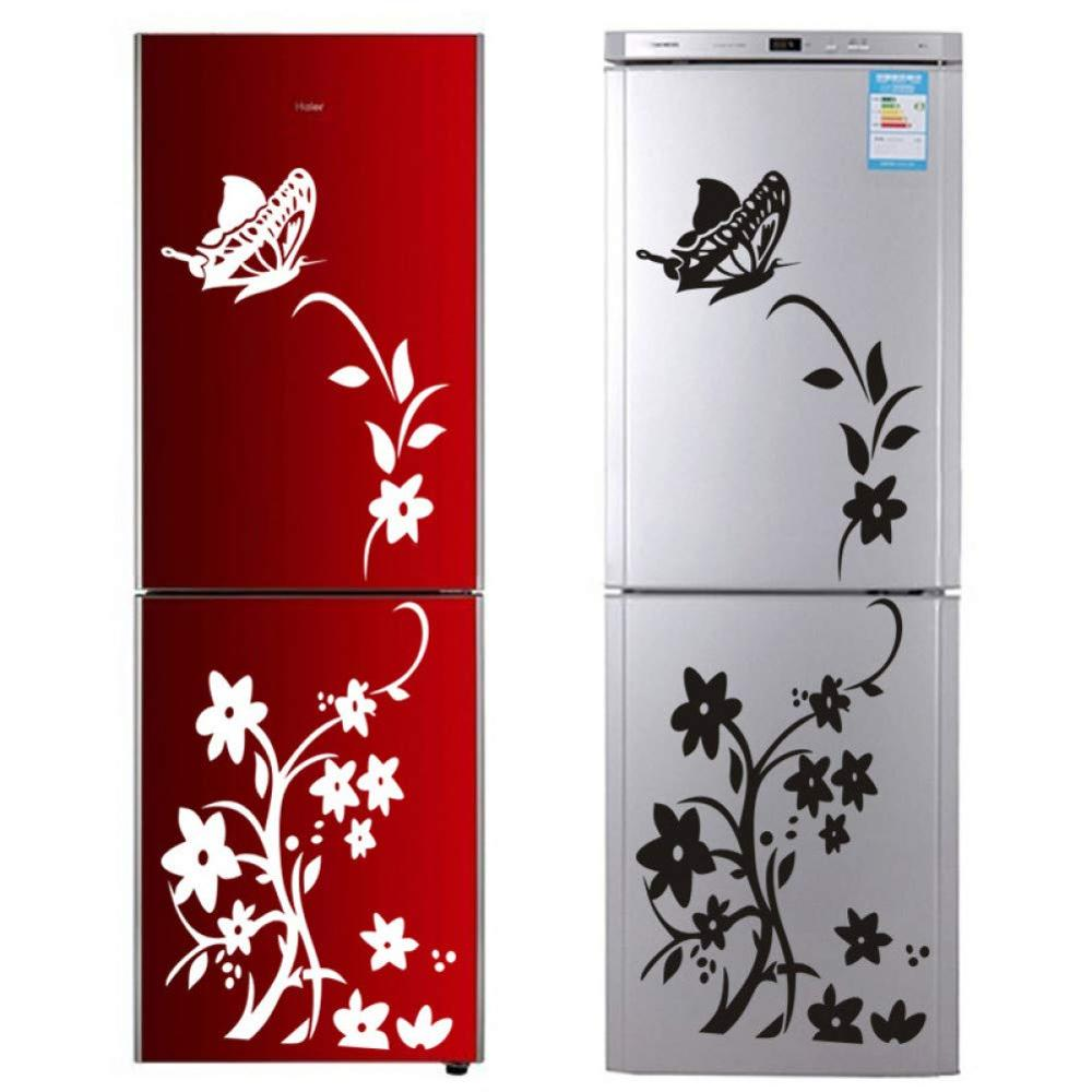 Mural Sticke Vine Flower Refrigerator Home-Decoration Kitchen Art-Decals Butterfly Creative