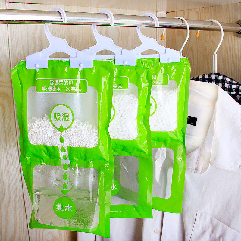 2PCs 36*16CM  Moisture Absorber Hanging Dehumidification Bag Anti-mold Desiccant Bag Hangable Closet Wardrobe Bathroom Accessory
