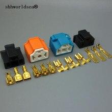 Shhworld Sea, 2 комплекта, 3Pin H4, автомобильный разъем, H4, Авто держатель, штекер 7,8 мм, ламповая вилка, ламповая розетка для мужчин+ женщин