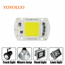 YOYOLUO 1PCS LED COB Chip 50W 30W 20W 15W 5W AC220V No need driver Smart IC LED bulb lamp For DIY LED Floodlight Spotlight(China)