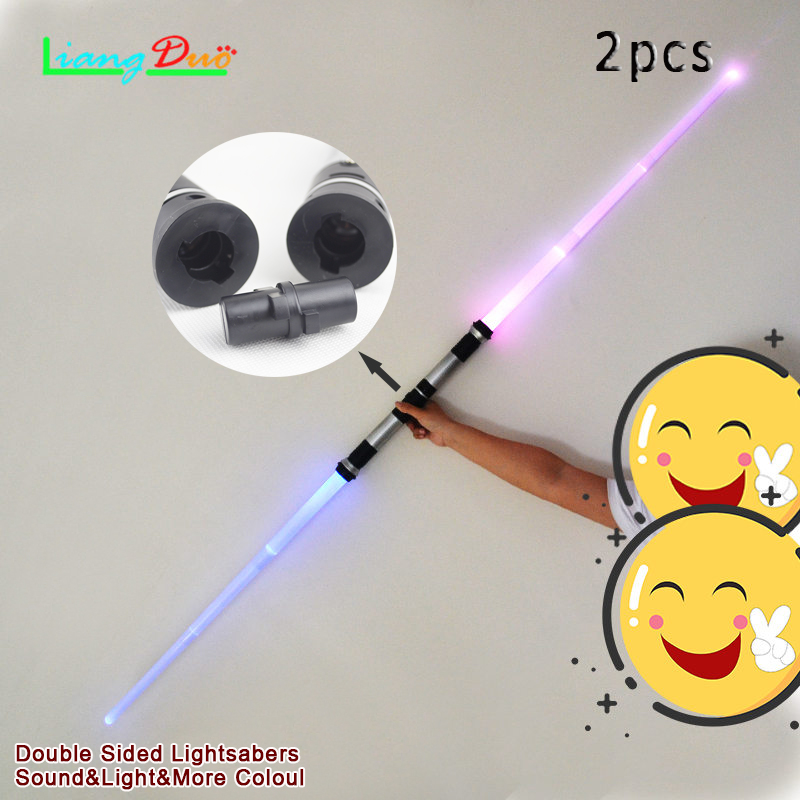 2pcs lightsaber Boy Toys Interesting Star Wars light Sword light Music For Children's Toy Telescopic Swords Outdoor Games