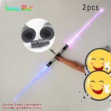 2 pcs lightsaber Boy Mainan Menarik Star Wars cahaya Pedang cahaya Musik Untuk Mainan anak-anak Teleskopik Pedang Permainan Outdoor