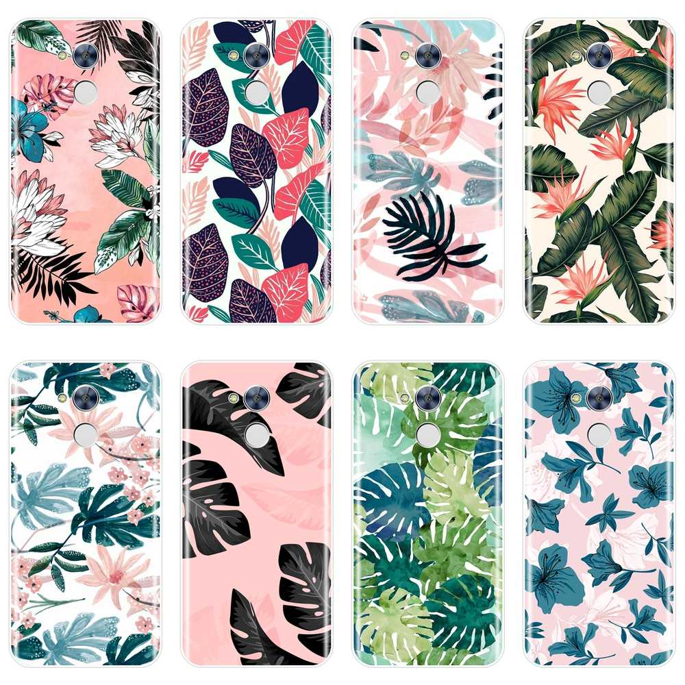 Back Cover For Huawei Honor 6A 4C 5C 6C Pro Leaves Flower Soft Silicone Case For Huawei Honor 6 5A 4X 5X 6X Phone Case