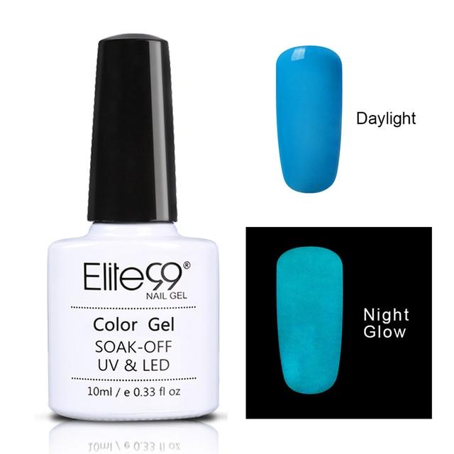 Elite99 12 teile/sätze Geschenk Box Nacht Glow In Dark Nagel Gel Polnisch Leuchtstoff Leucht Nagellack Lack Candy Farben LED lampe