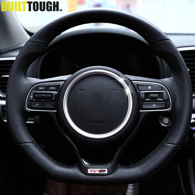 Interior Accessories Interior Mouldings Original For Kia Optima K5 2016 2017 2018 Chrome Steering Wheel Panel Cover Badge Insert Trim Ring Accent Bezel Frame Garnish Car Styling