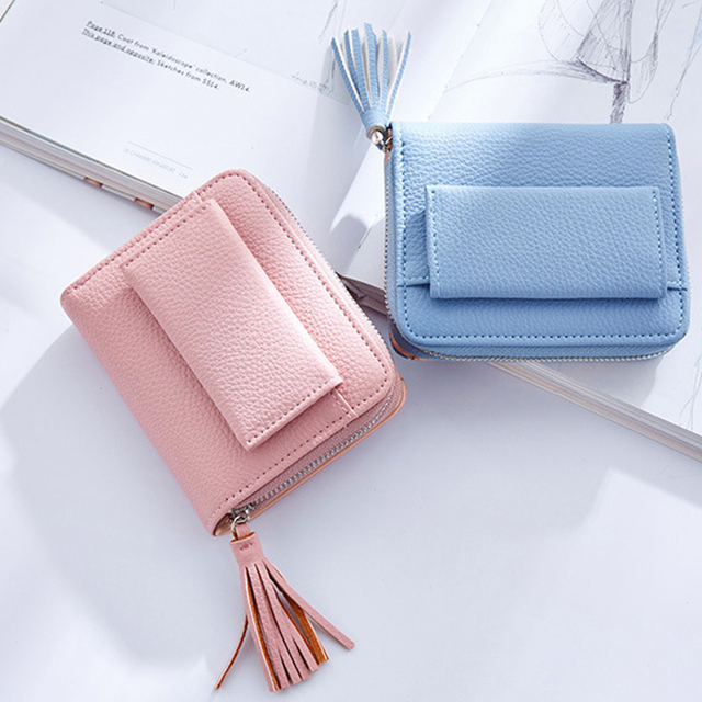 Women's Short Tassel Decorated Wallets