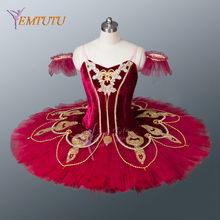 Paquita Borgogna Rosso Tutu di Balletto Professionale Tutu Delle Ragazze  Delle Donne Concorso di Esecuzione Piatto 4136573dfcd