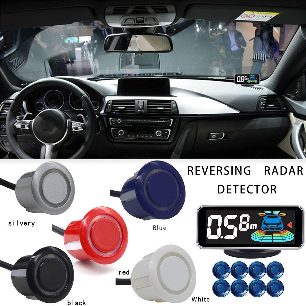 8 capteurs capteur de stationnement vocal voiture Radar de recul Automobile détecteur de stationnement aide au stationnement Radar de recul