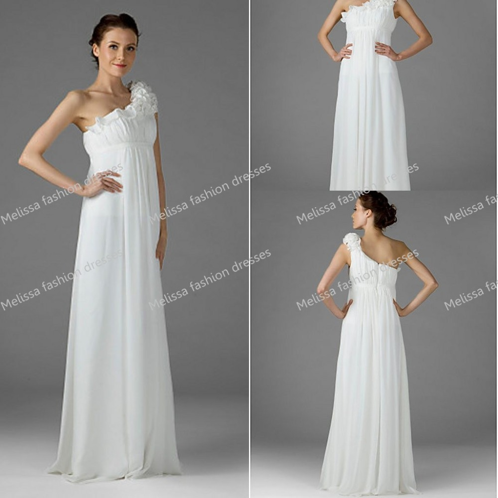 Affordable a line chiffon floor length one shoulder empire waist affordable a line chiffon floor length one shoulder empire waist baby shower dress maternity gowns for special occasions in evening dresses from weddings ombrellifo Image collections