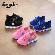 Boys Shoes Children Sneakers Led Loafer With Light Kids Glowing 2019 Spring Autumn Girls Colorful Lights Fashion Luminous Shoe