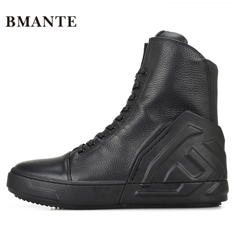 Real leather fashion casual footwear White black male hightop tennis tall bambas Bieber High top boot trainers shoe krasovki men люстра linvel lv 9065 2 chrome