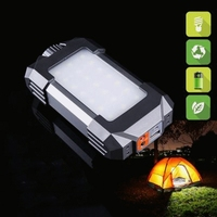 IPX5 Waterproof Tent Lantern Camping 21 LEDs Light Rechargeable Emergency Lamp 5400mAh Power Supply Gray