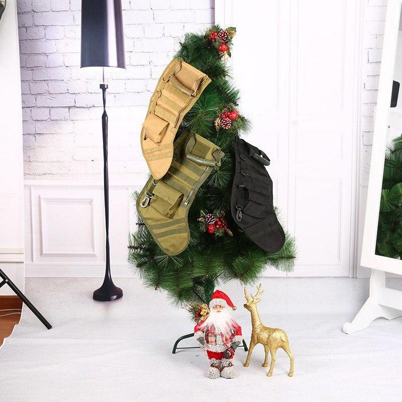 Táctico Molle Navidad calcetín bolsa volteo Drop bolsa utilidad almacenamiento bolsa militar combate caza Navidad calcetines Paquete de regalo