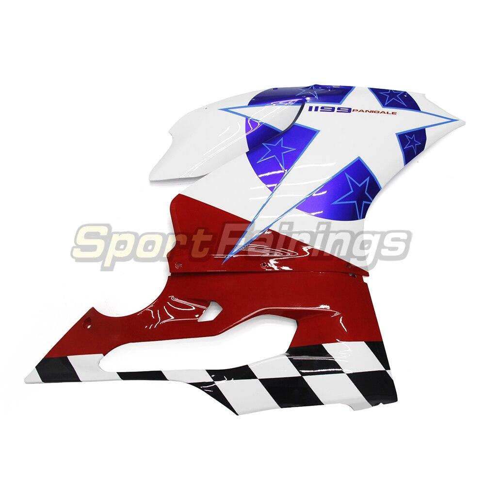 Инъекции Обтекатели для поездок на мотоцикле DUCATI 899 1199 год 2012 2013 из АБС-пластика для мотоцикла полный обтекатель с комплектом кузова капот белый красные, синие капоты