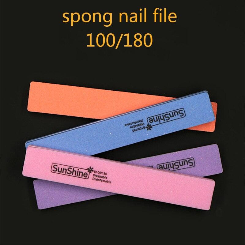 NEW 100/180 Spong Nail File Buffer Washable Nail File Reusable ...