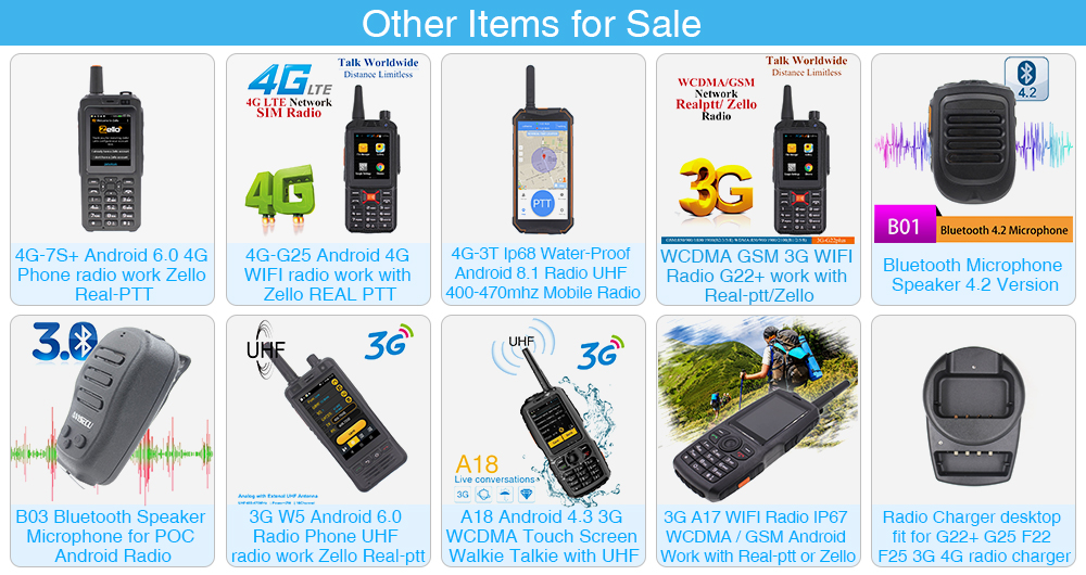 IP67 3G Wifi Radio W5 Android 6.0 Phone PTT Radio UHF radio work Zello Real-ptt