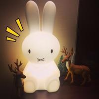 50cm Rabbit Children LED Night Light Rechargeable Cartoon Night Lamp For Children Baby Bedroom Birthday Christmas