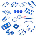 Left Hand Drive 35pcs Blue Interior Accessories Whole Kit Cover Trims Car styling For Ford Mustang 2015 2016 2017