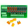 Panel Mount 10 Position Power Distribution Fuse Module Board, For AC/DC 5~32V.