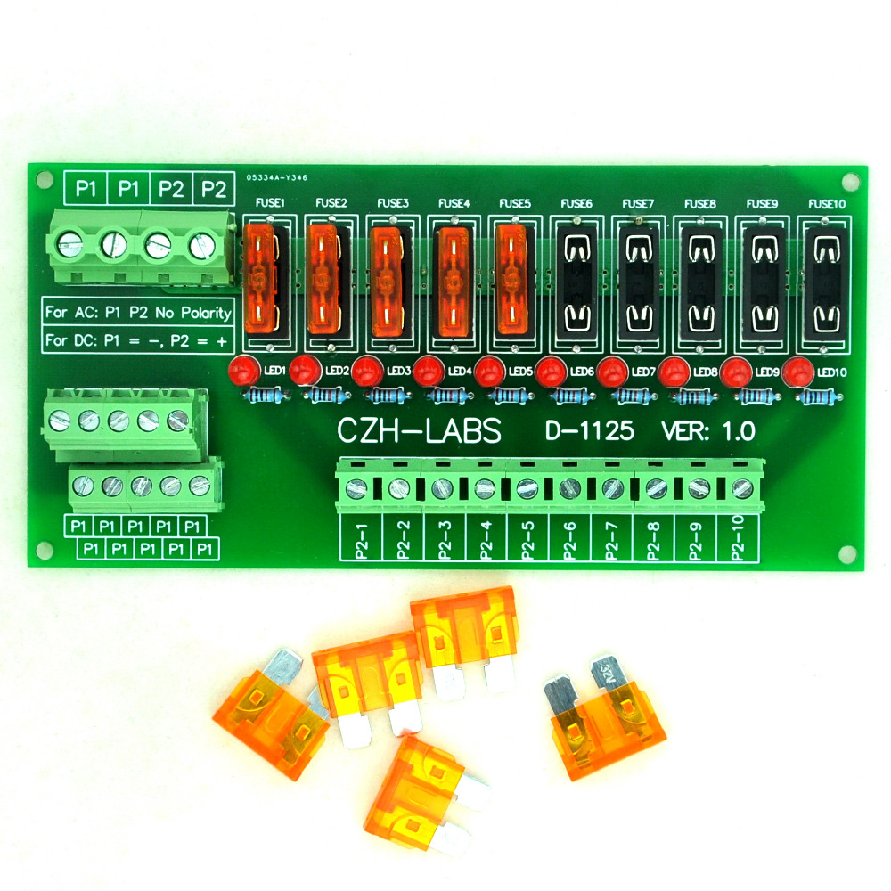 Fuse Box Ac Dc Coverband : Panel mount position power distribution fuse module