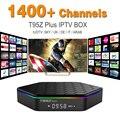 Núcleo octa Android Árabe IPTV BOX T95ZPLUS Frete 1400 Europa Árabe Canais de IPTV S912 2 GB/16 GB TV Box WIFI H265 KODI Media Player