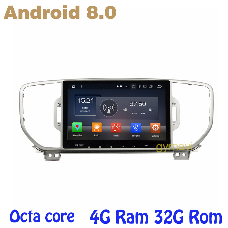 Octa core PX5 Android 8.0 car dvd gps player for kia sportage KX5 2016 2017 with 4G RAM 32G ROM wifi 4g usb auto Multimedia все цены