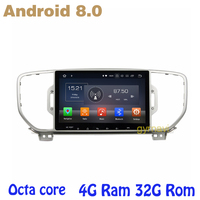 Octa core PX5 Android 8.0 car dvd gps player for kia sportage KX5 2016 2017 with 4G RAM 32G ROM wifi 4g usb auto Multimedia