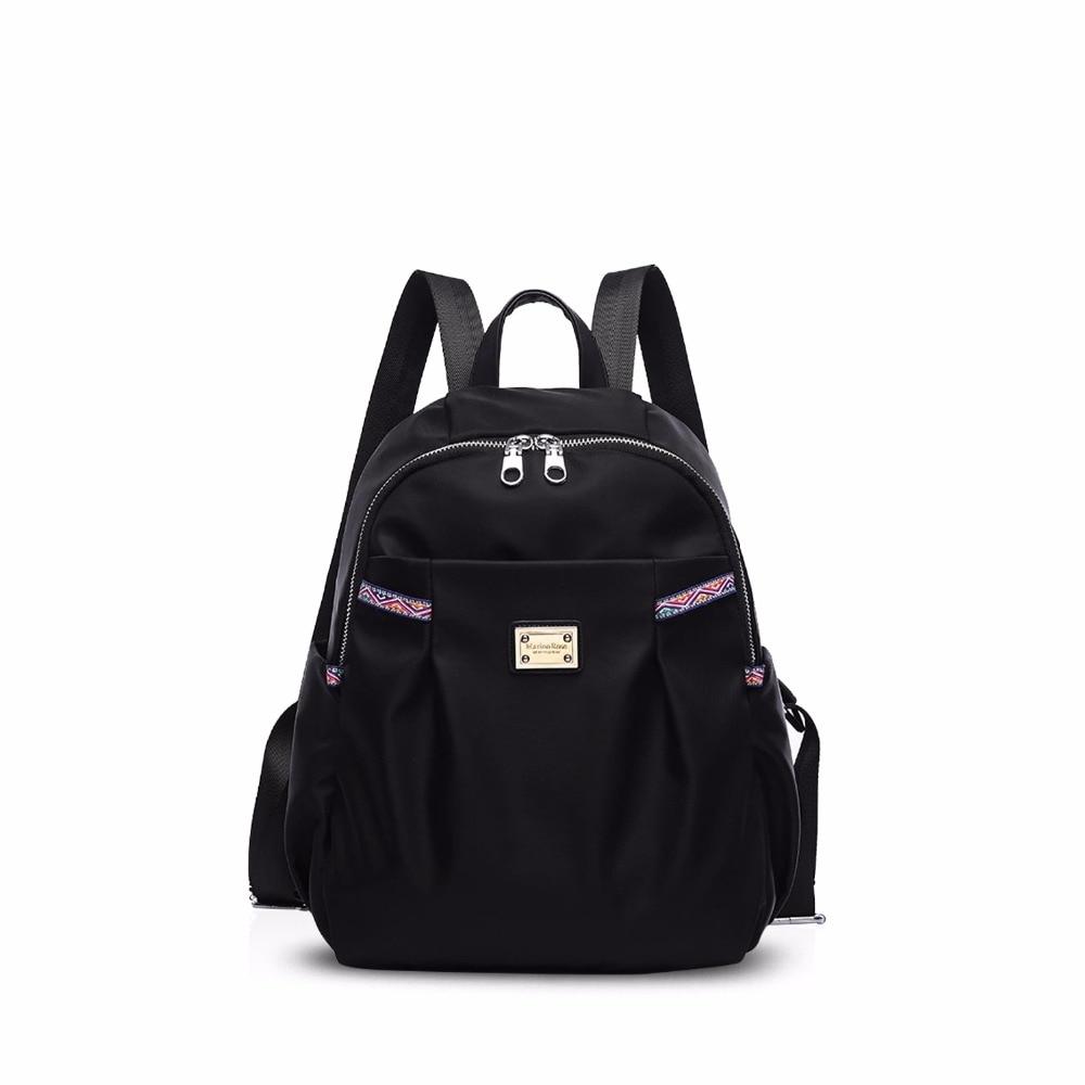 NICOLE DORIS New Women School Bags College Travel Backpack Shoulder Bag Backpacks for Women Waterproof Polyester
