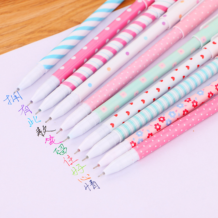 10 pcs lot Flower gel pens Cute Unicorn 10 colors Neutral Drawing pen Stationery school writing supplies escolar in Gel Pens from Office School Supplies