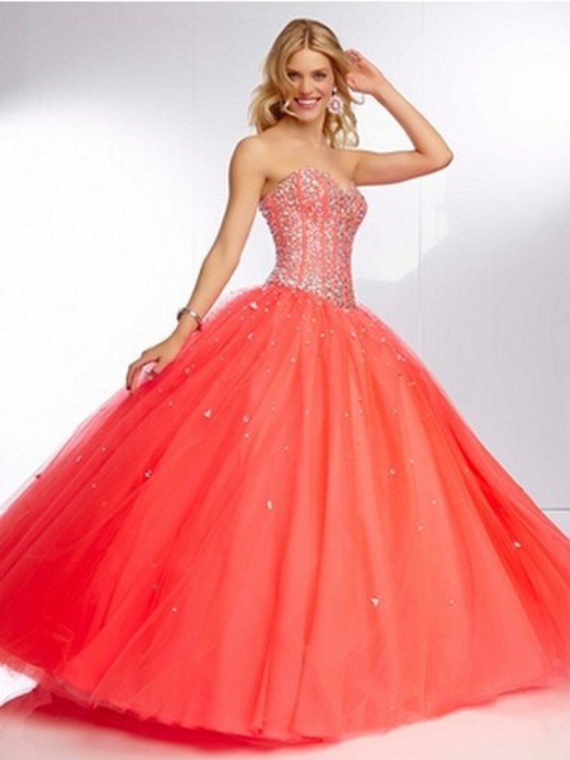 Cheap coral colored prom dresses