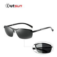 OUTSUN Photochromic Sunglasses Polarized Men Brand Designer Alloy Frame ANTI Glare UV400 Polaroid Oculos De Sol