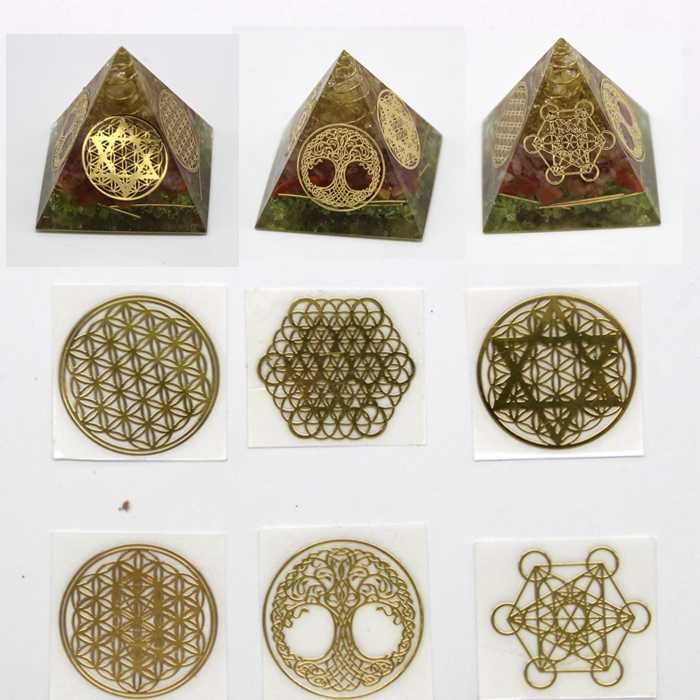 Energy Tower Paste Energy Pattern With use of epoxy Mold Making Mould Jewelry Tool stickers for DIY jewelry
