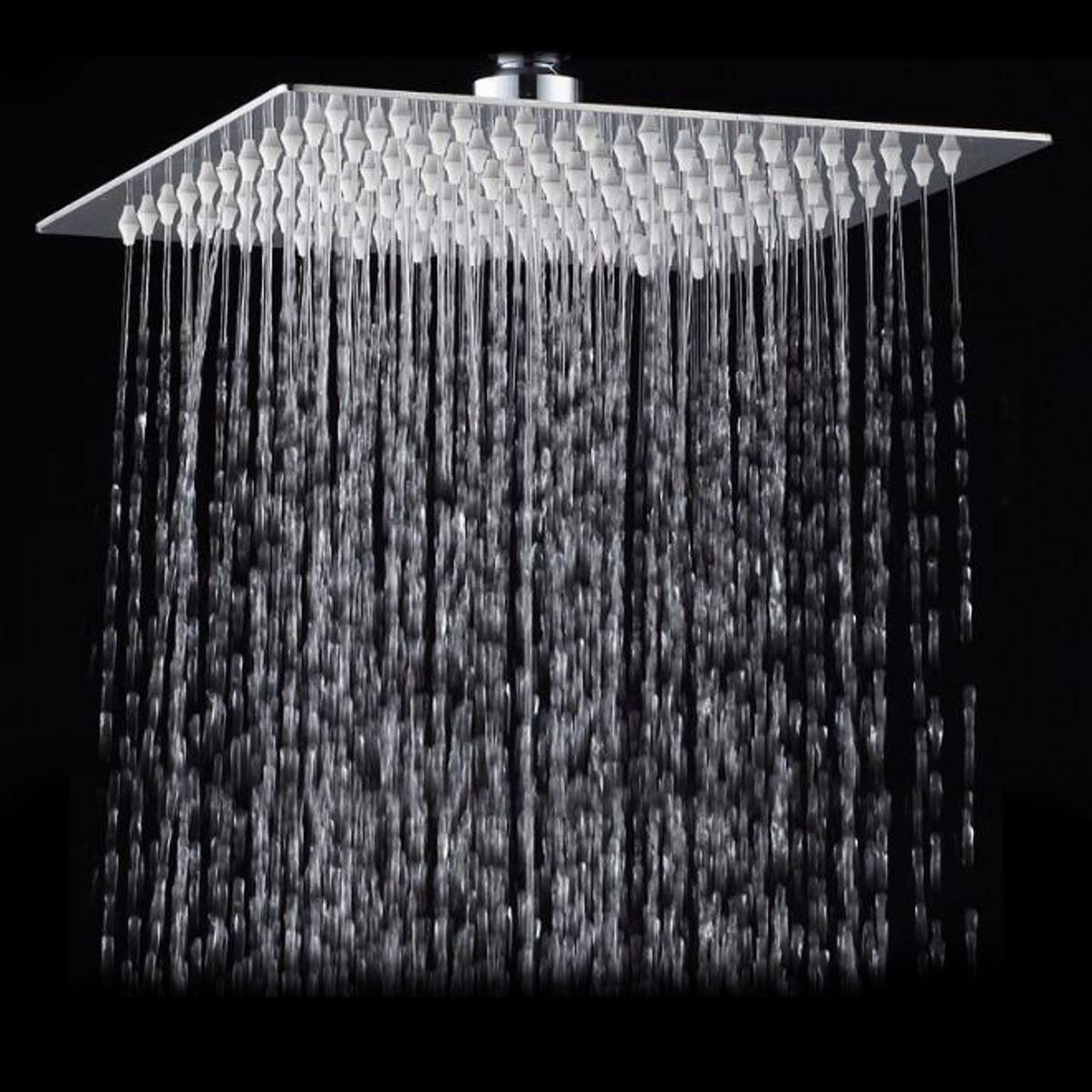 כיכר רחצה נירוסטה גשם מקלחת ראש גשם 12 inch אמבט מקלחת כרום למעלה מרסס מקלחת גשם בלחץ גבוהה