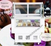 Italian Ice Cream Display Freezer Mini Ice Cream Display Freezer display cabinet hard ice cream showcase