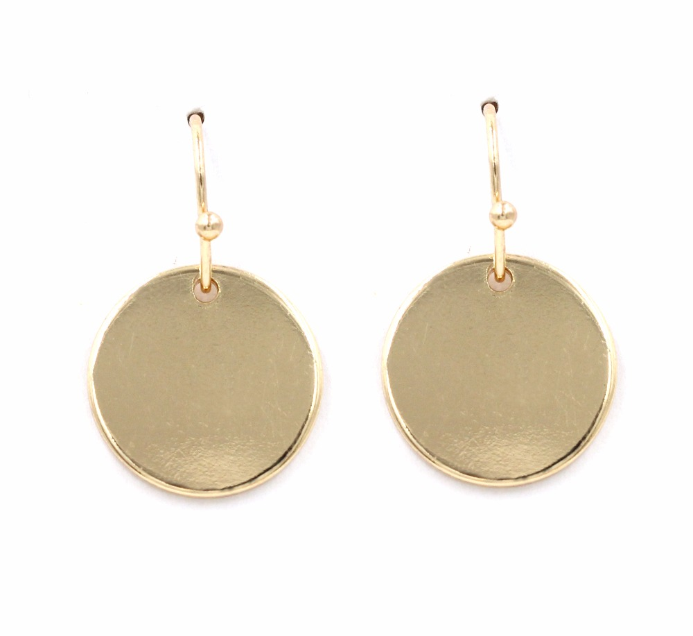Geometric Round Cute Disc Drop Earrings For Women