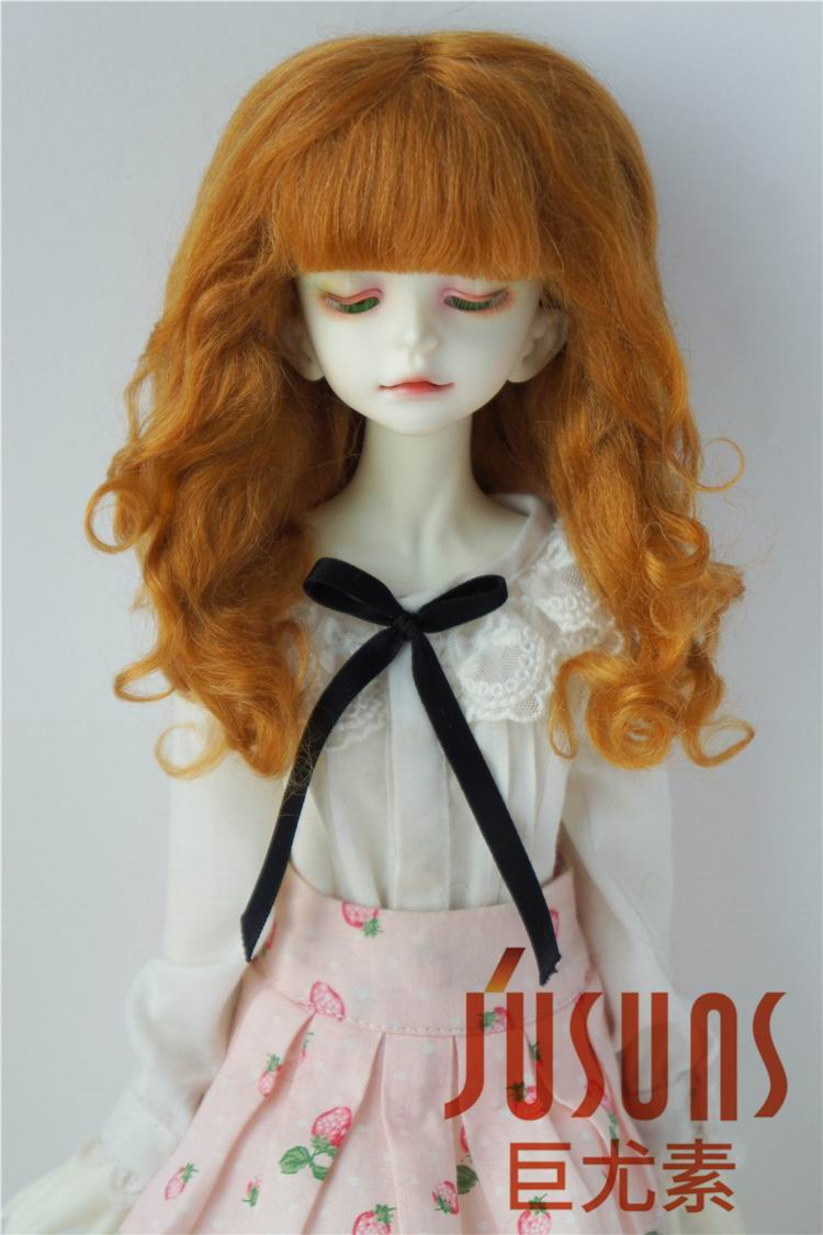 D20313 1/4 MSD  mohair doll wigs  Princess Long curly bjd wig 7-8inch doll accessories 1 3 1 4 bjd wigs hot sell bjd sd short curly wig for diy dollfie mohair like