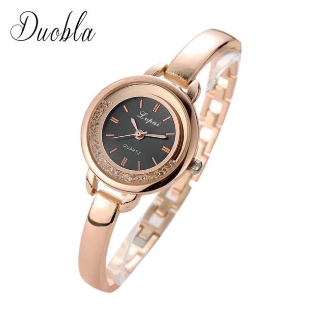 2018 Watch Women Gold & Silver Luxury Clock Women Bracelet Watch Ladies Brand Lu