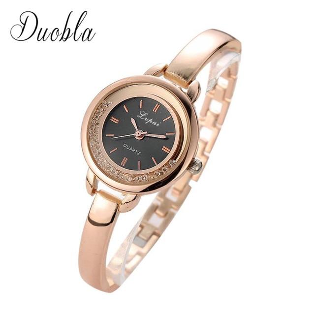 2018 Watch Women Gold & Silver Luxury Clock Women Bracelet Watch Ladies Brand Lu