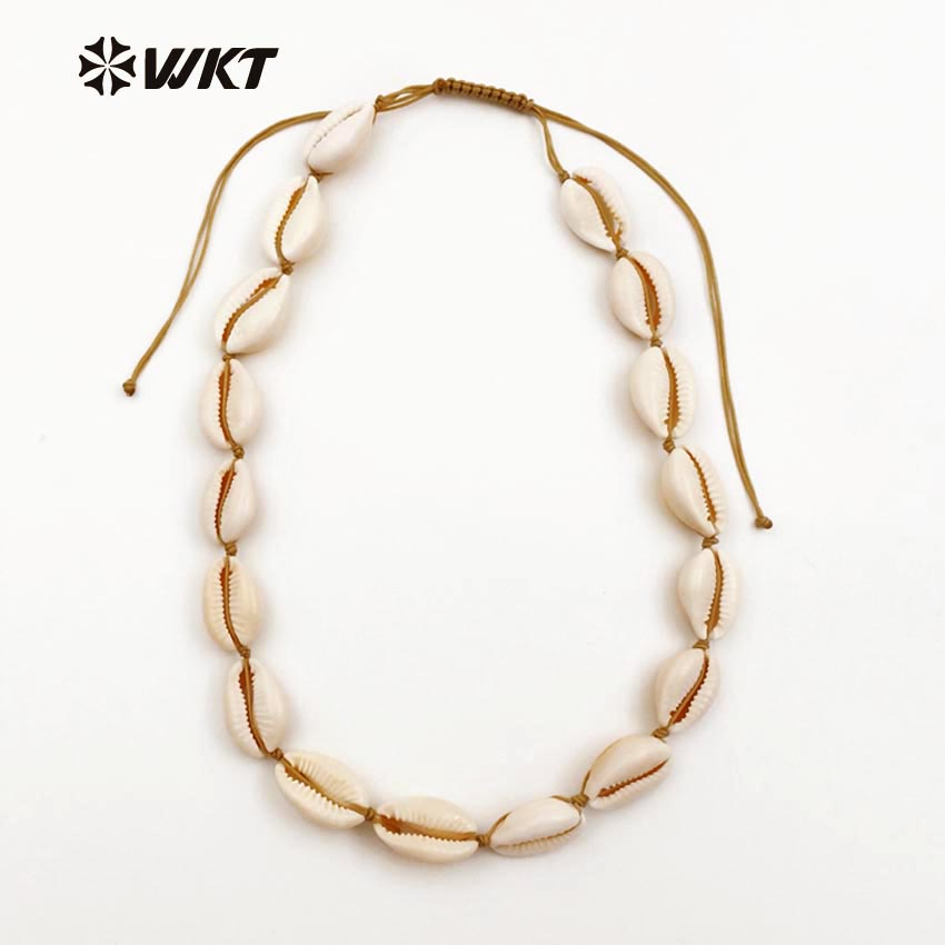 WT JN024 WKT Wholesale New Coming Diy Jewelry Elegant Natural Cowrie Shell Necklace with White For