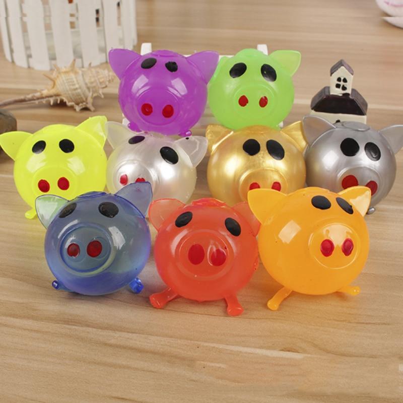 1 Pcs Cute Anti Stress Decompression Splat Ball Vent Toy Venting Ball Sticky Smash Water Ball Anti Stress Goods Pig Toys
