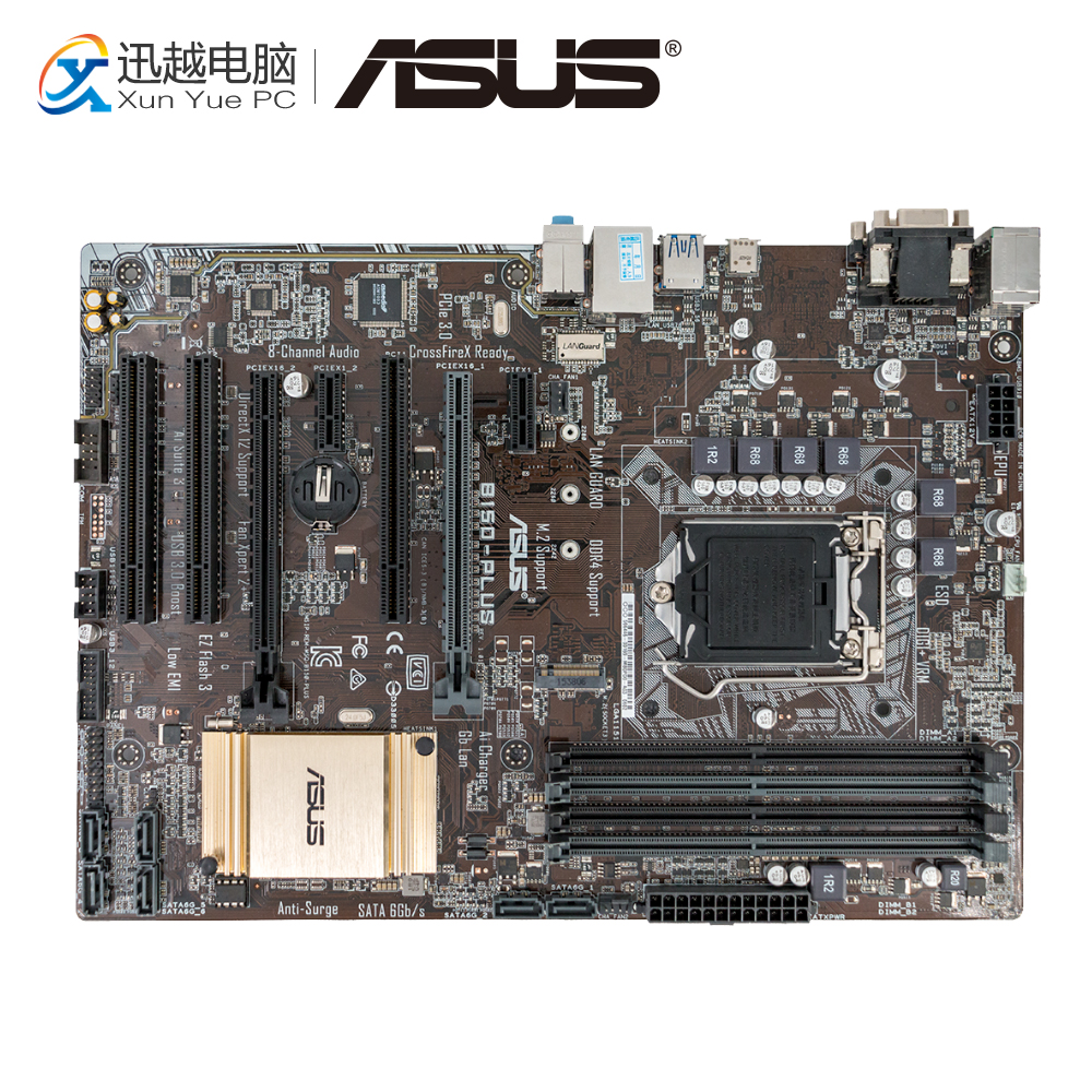 Asus B150-PLUS Desktop Motherboard B150 Socket LGA 1151 i7 i5 i3 DDR4 64G SATA3 USB3.0 ATX msi z170a sli plus original new desktop motherboard z170 socket lga 1151 i3 i5 i7 ddr4 64g atx