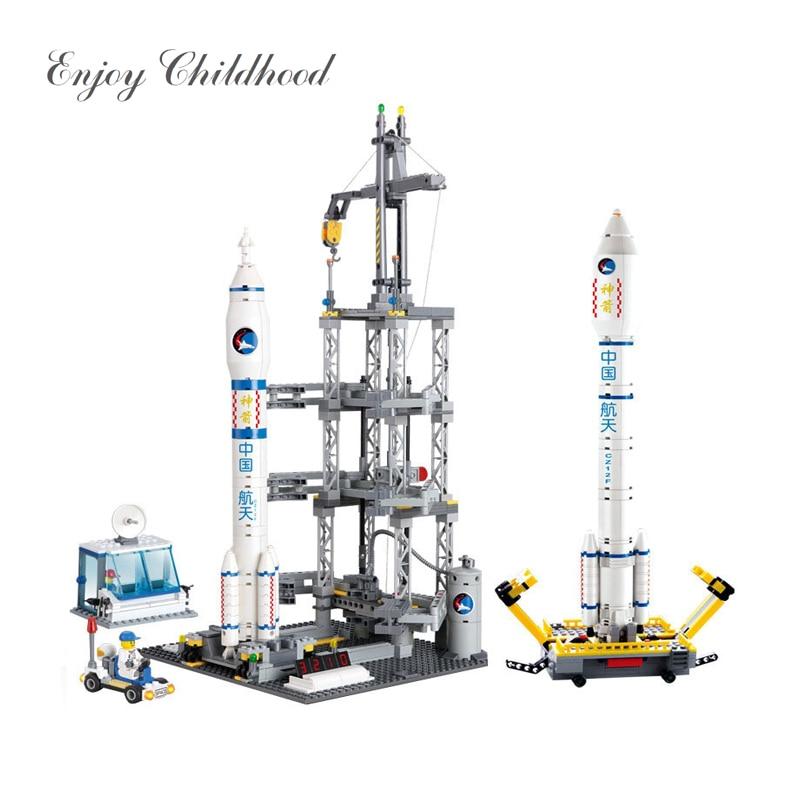 83001 822PCs Space serije Rocket Station Building Block Set djeca DIY - Izgradnja igračke - Foto 1