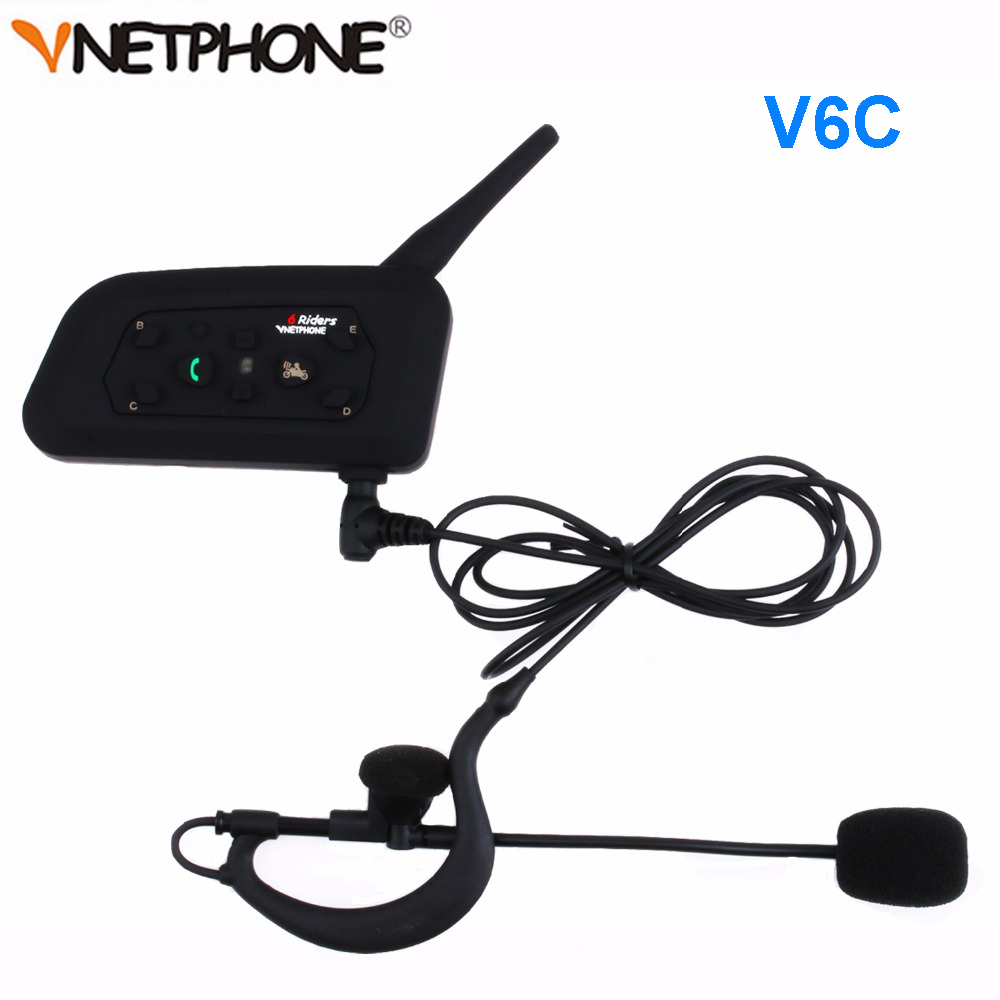 Vnetphone V6C New Full Duplex 1200M Football Referee Arbitration Earhook Bluetooth Intercom Monaural Earphone Headset Headphone