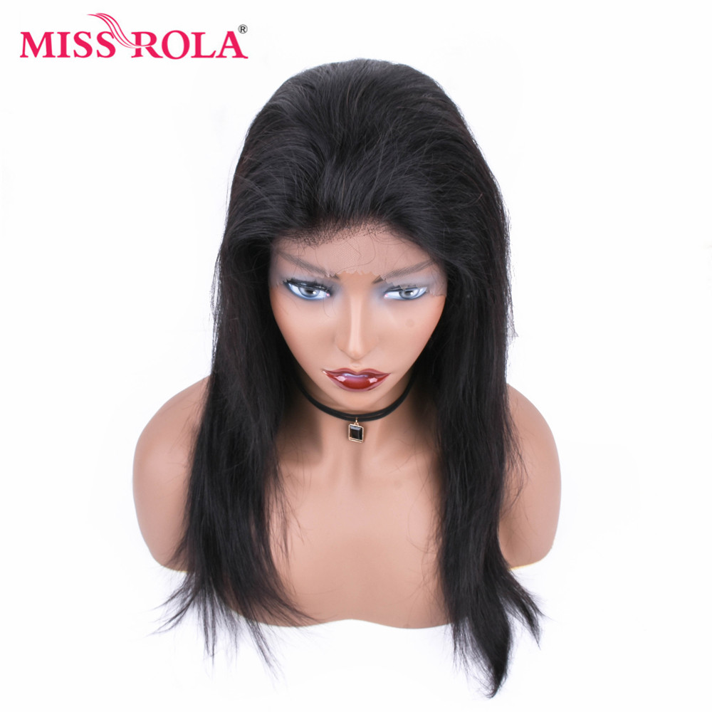 Miss Rola 13 4 Brazilian Straight 12 22 Inchs Lace Front Human Hair Wigs Natural Color