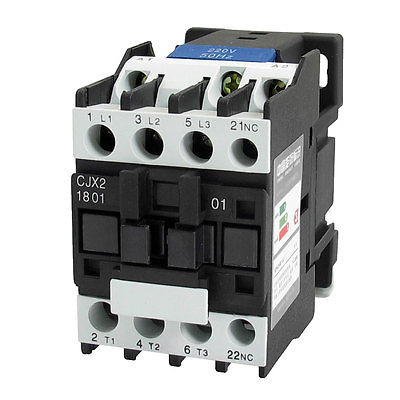 220V Coil Motor Controler AC Contactor 3P 3 Pole NC 660V 32A CJX2-1801 3 pole 3p motor protection thermal overload relay 4 6a 1 no 1 nc